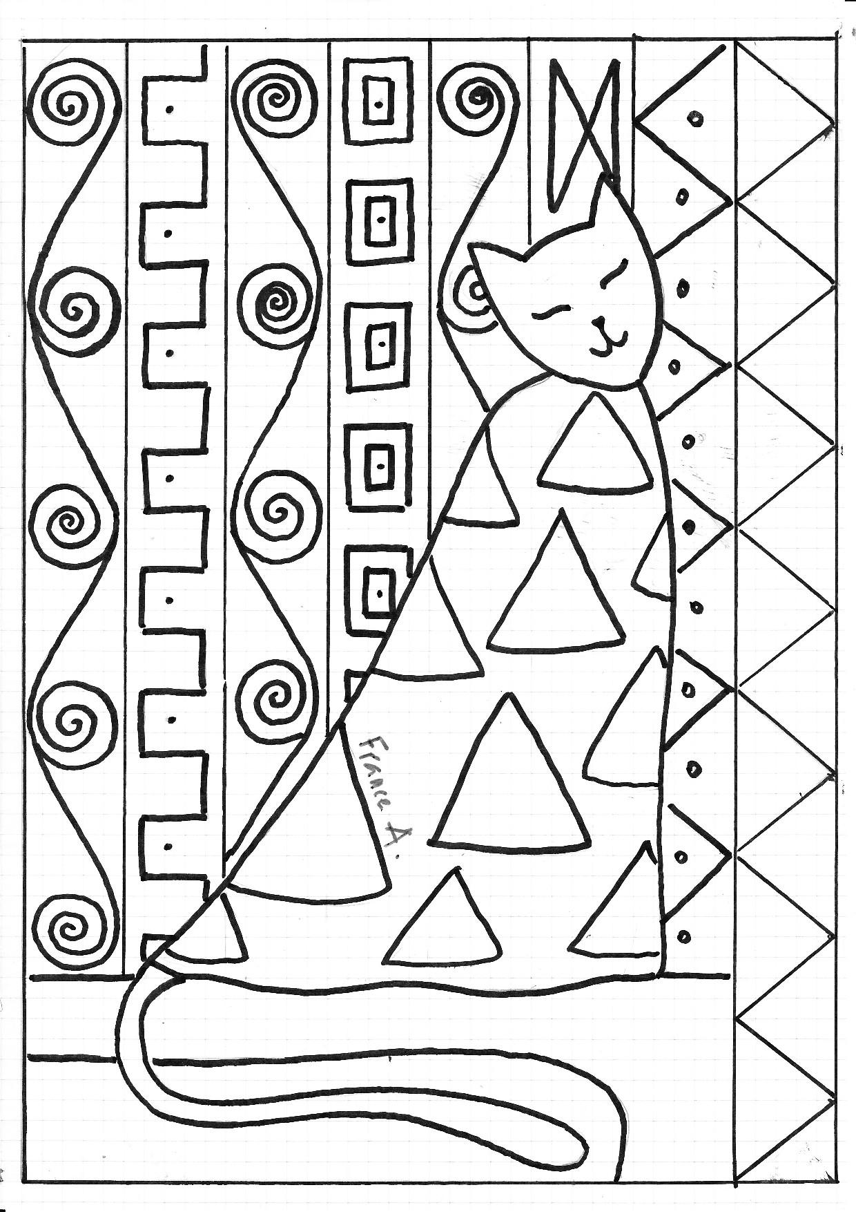chats la mani re de peintres