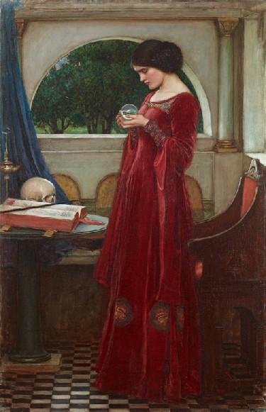 la boule de cristal  1902 - John W Waterhouse