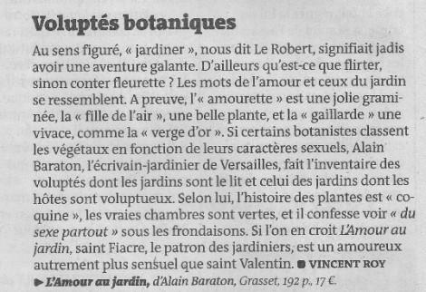 voluptés botaniques A. Baraton